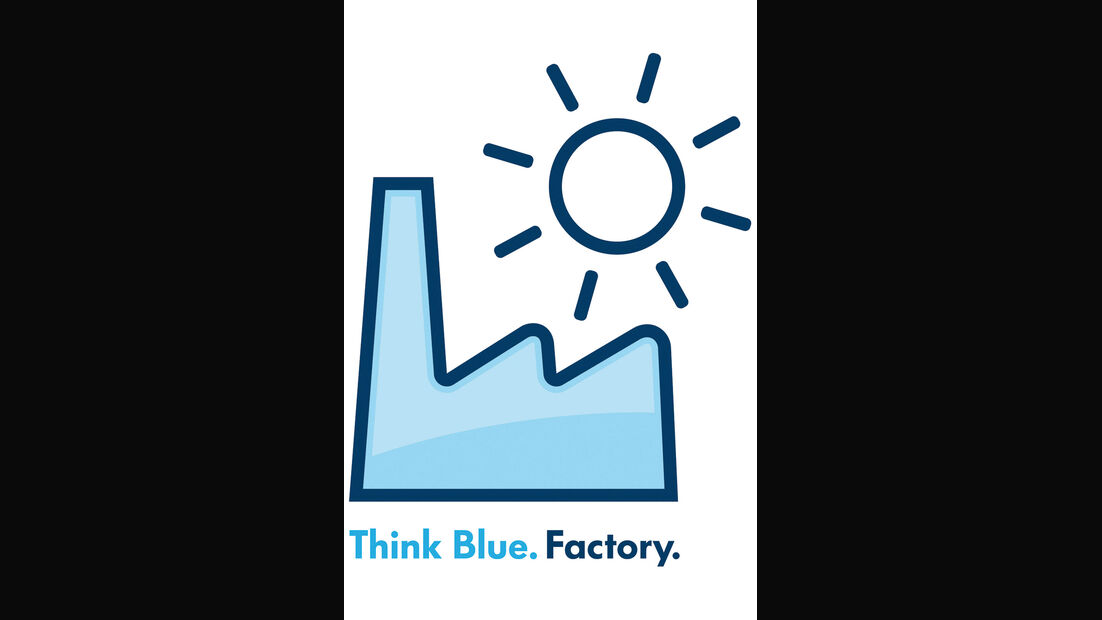 VW Think Blue. Factory., Logo