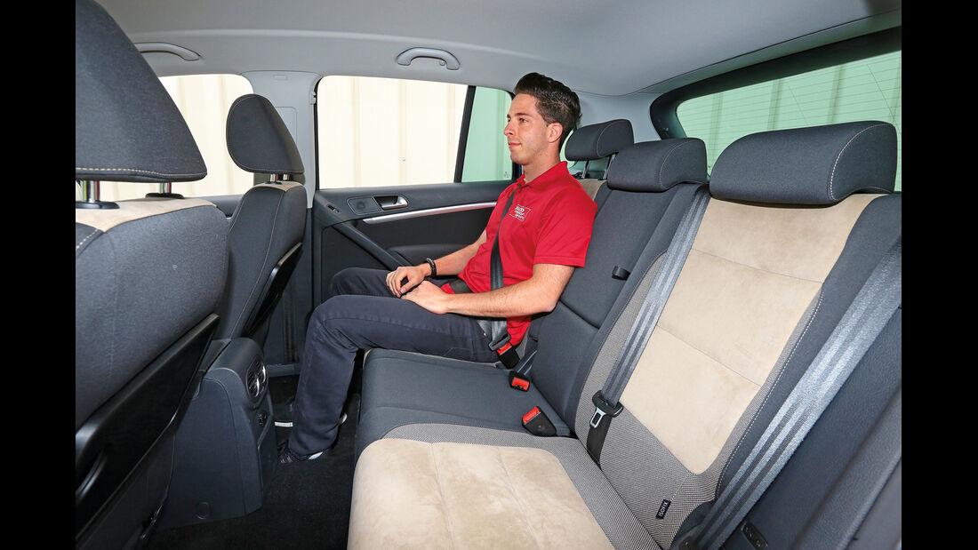 VW Tiguan 2.0 TDI 4Motion BMT, Fondsitz, Beinfreiheit