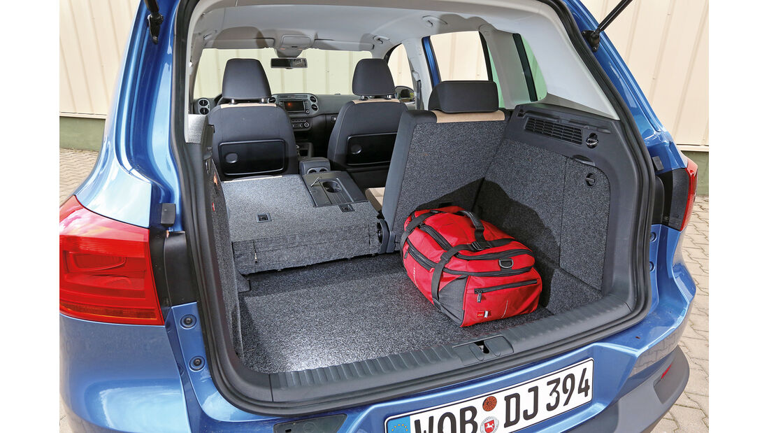 VW Tiguan 2.0 TDI 4Motion BMT, Kofferraum, Ladefläche