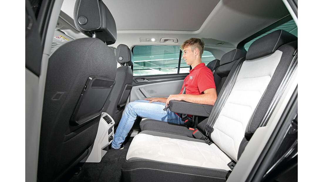 VW Tiguan 2.0 TDI 4Motion, Fondsitze