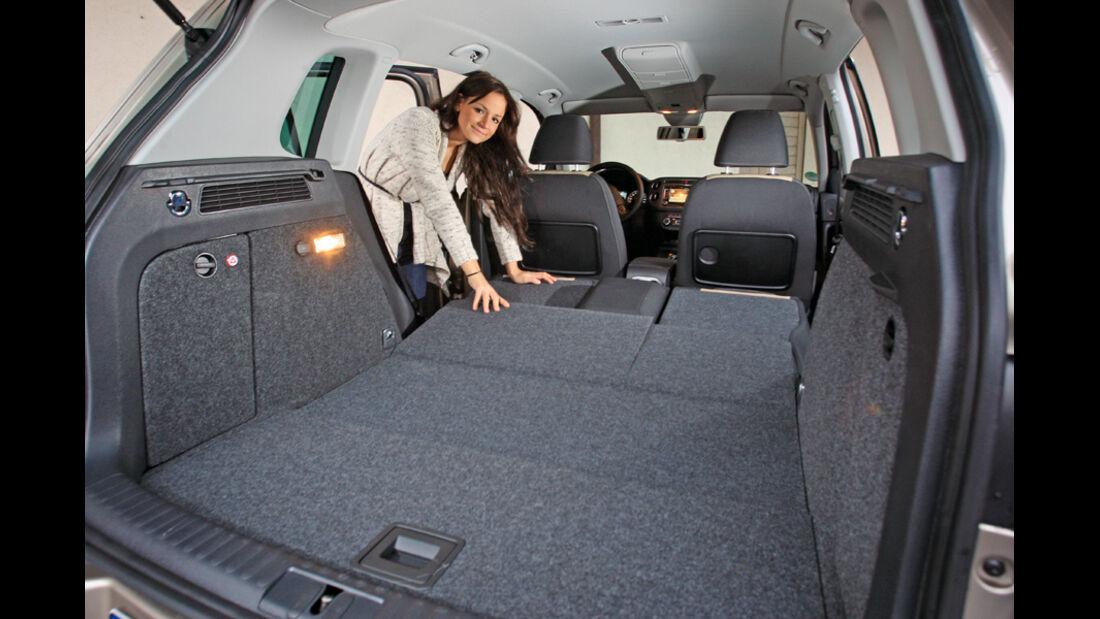 VW Tiguan 2.0 TDI 4motion BMT, Ladefläche, Kofferraum
