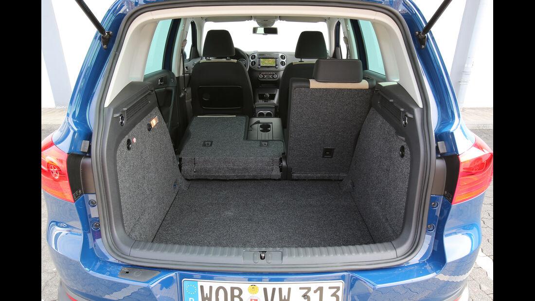 VW Tiguan 2.0 TDI BMT, Kofferraum, Rücksitz, Umklappen