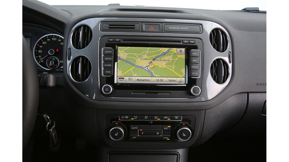 VW Tiguan 2.0 TDI BMT, Navi, Bildschirm