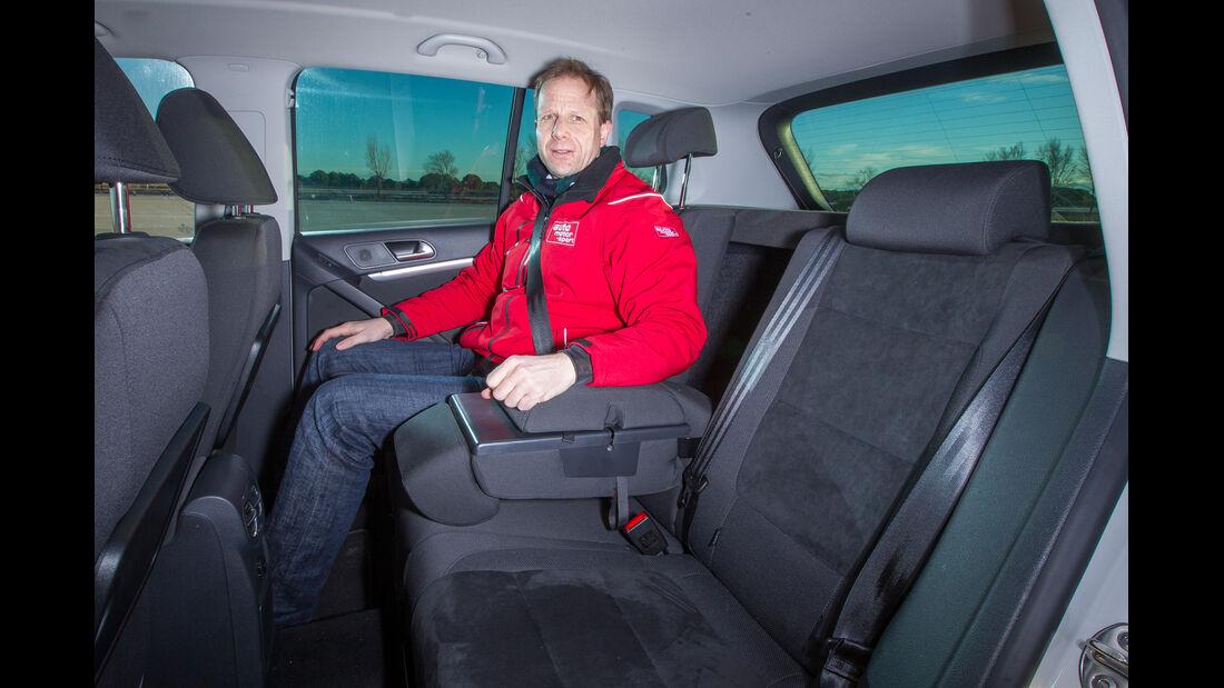 VW Tiguan 2.0 TDI, Fondsitz, Beinfreiheit