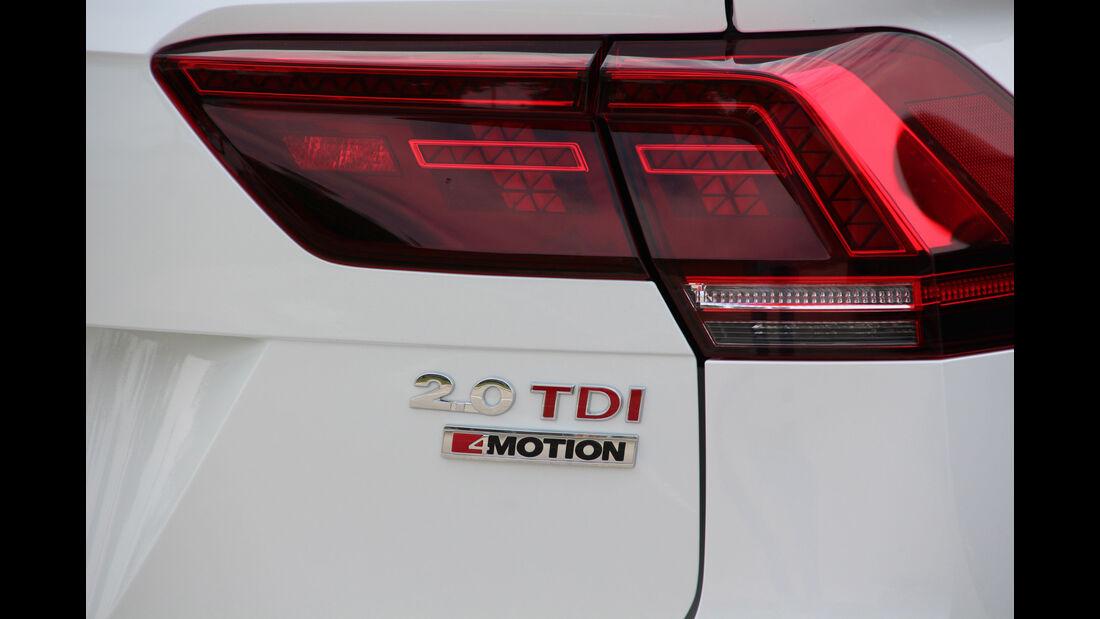 VW Tiguan 2.0 TDI SCR 4Motion, Typenbezeichnung