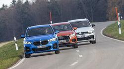 VW Tiguan 2.0 TSI 4Motion, BMW X1 25i xDrive, Audi Q3 45 TFSI Quattro, Exterieur