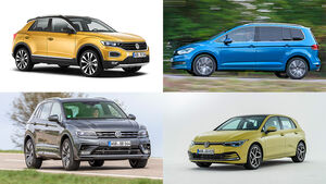 VW Tiguan T-Roc Golf Touran
