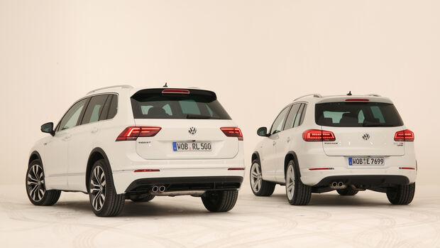 VW Tiguan, alt gegen neu, Impression