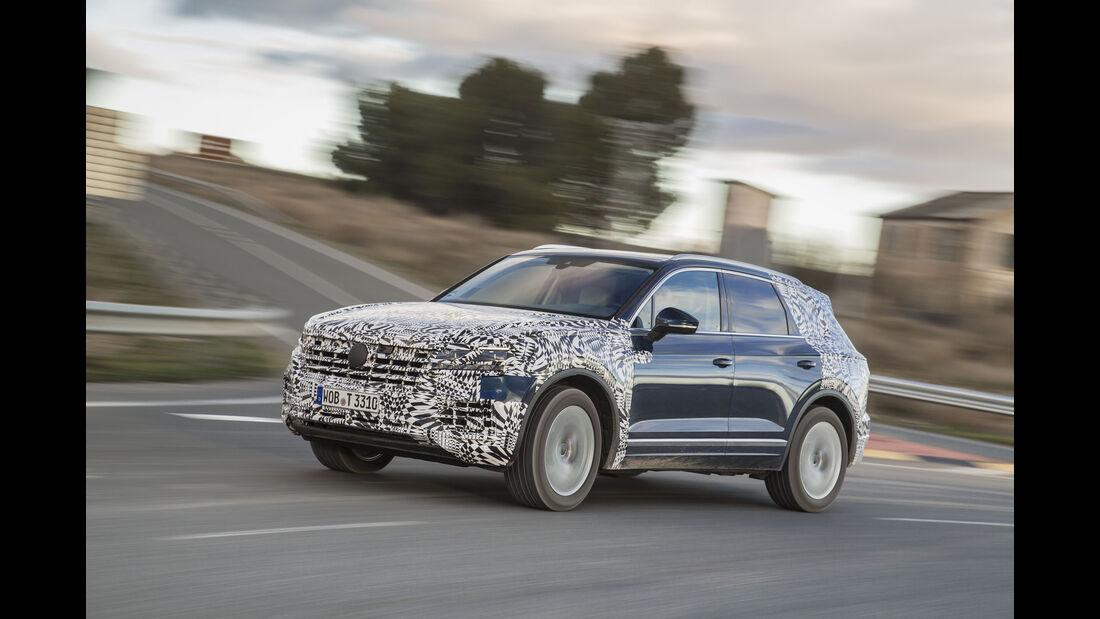 VW Touareg III (2018) Covered Drive / Abnahmefahrt SPERRFRIST 01.03.2018