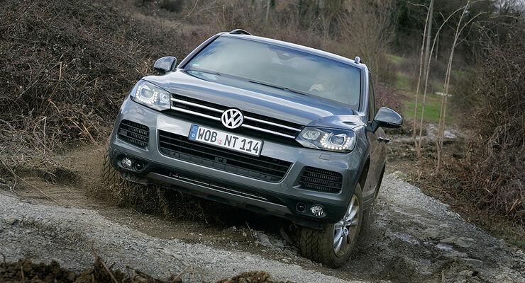 VW Touareg, Offroad, Gelände, Schlamm, Steigung