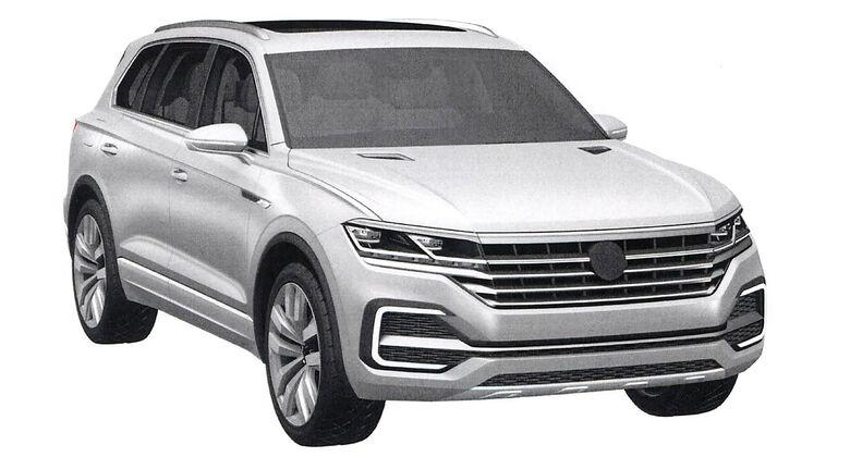 VW Touareg Patentamtbilder