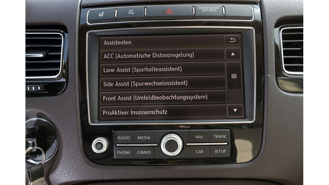 VW Touareg V6 TDI BMT SGR, Bildschirm