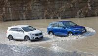 VW Touareg V6 TDI BMT SGR, Kia Sorento 2.2 CRDi, Wasserdurchfahrt
