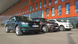 VW Touareg V6 TDI, BMW X5 x-Drive 30d, Mercedes ML 350 Bluetec