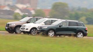 VW Touareg V6 TDI, BMW X5 x-Drive 30d, Mercedes ML 350 Bluetec