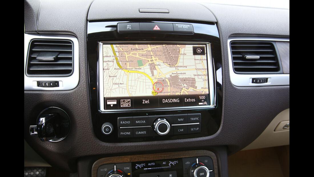 VW Touareg V6 TDI Blue Motion, Navi, Bildschirm