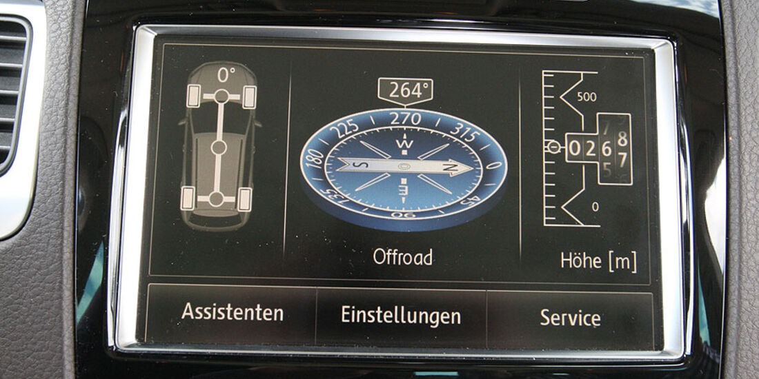 VW Touareg V6 TDI Display