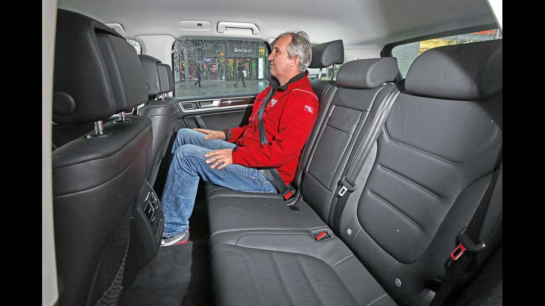 VW Touareg V6 TDI, Fondsitz, Beinfreiheit