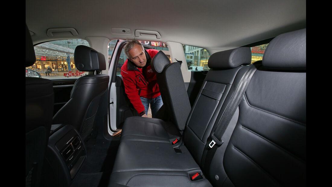 VW Touareg V6 TDI, Fondsitz, Umklappen
