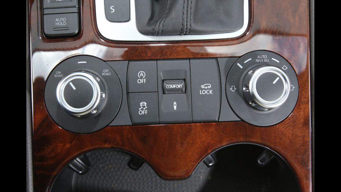 VW Touareg V6 TDI, Luftfederung, Mittelkonsole