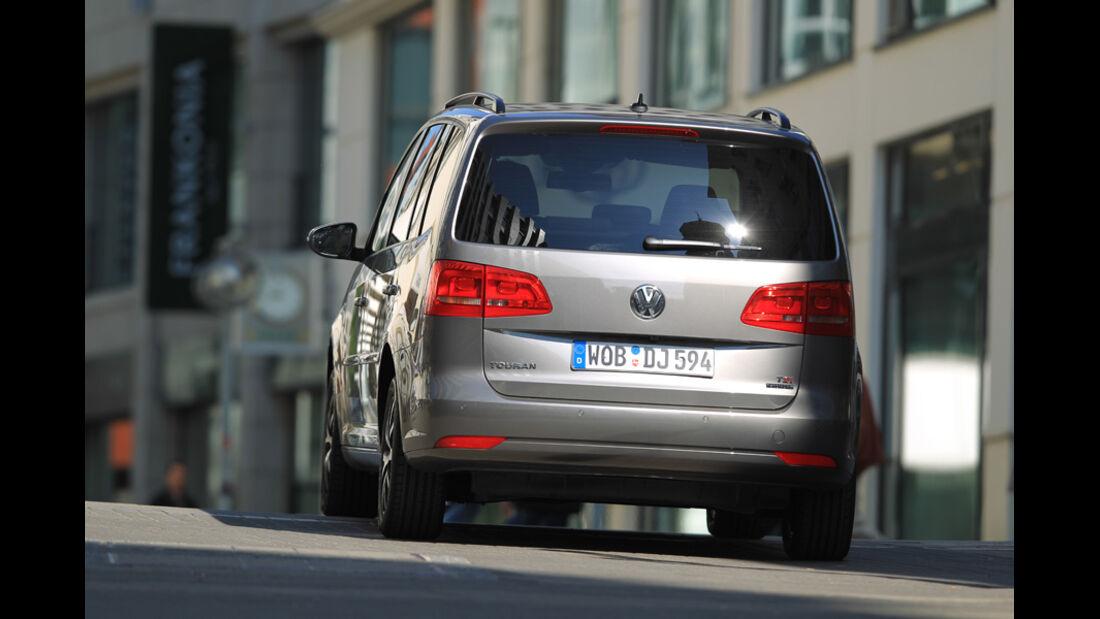 VW Touran 1.4 TSI Ecofuel, Rückansicht, Heck