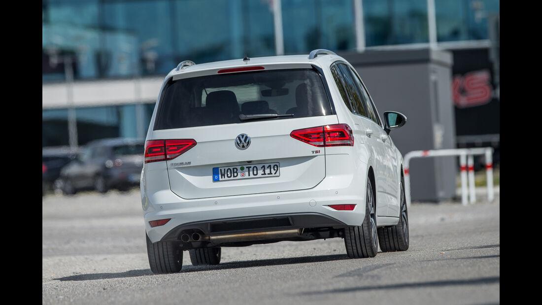 VW Touran 1.4 TSI, Heckansicht