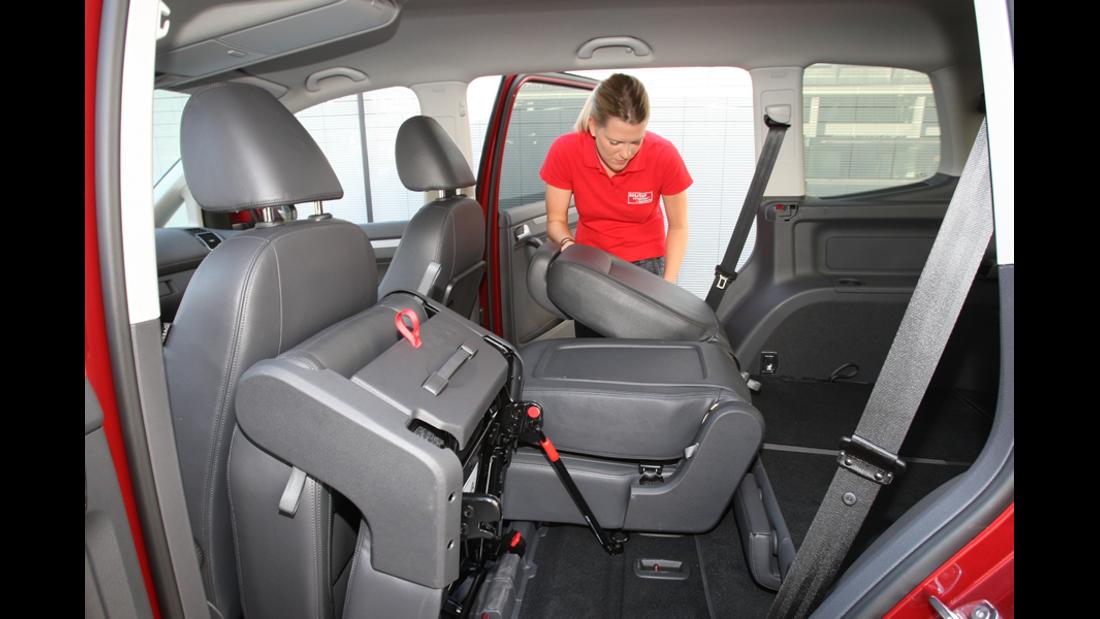VW Touran 1.4 TSI Rückbank