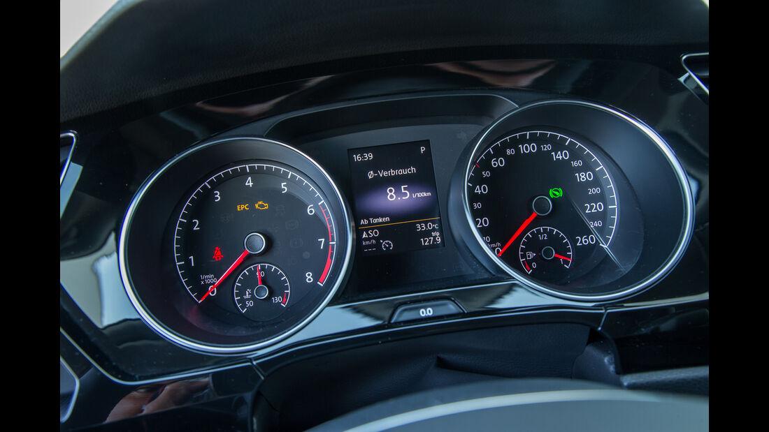 VW Touran 1.4 TSI, Rundinstrumente