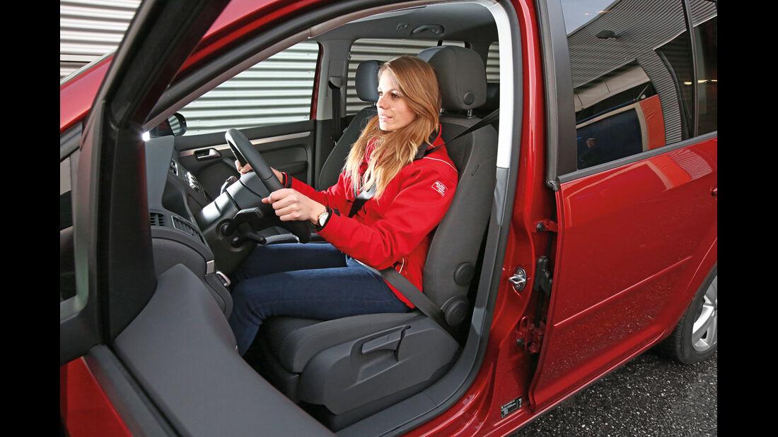 VW Touran 1.6 TDI BMT, Fahrersitz