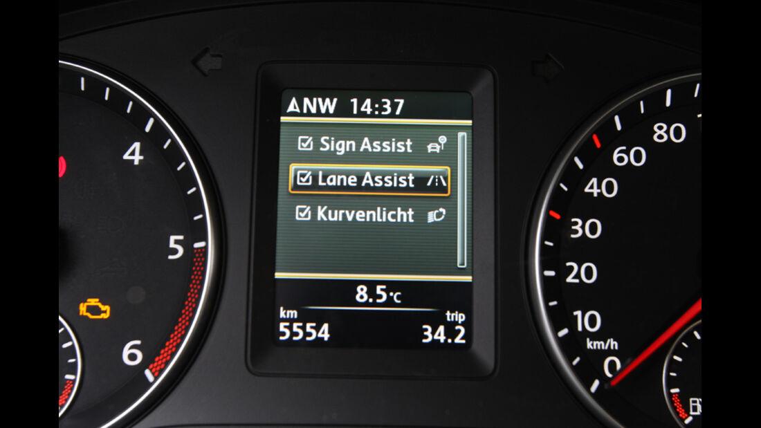 VW Touran 2.0 TDI Highline, Rundinstrumente