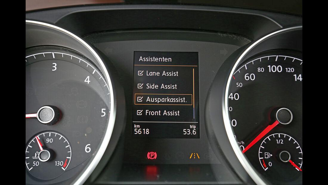 VW Touran 2.0 TDI SCR, Anzeige