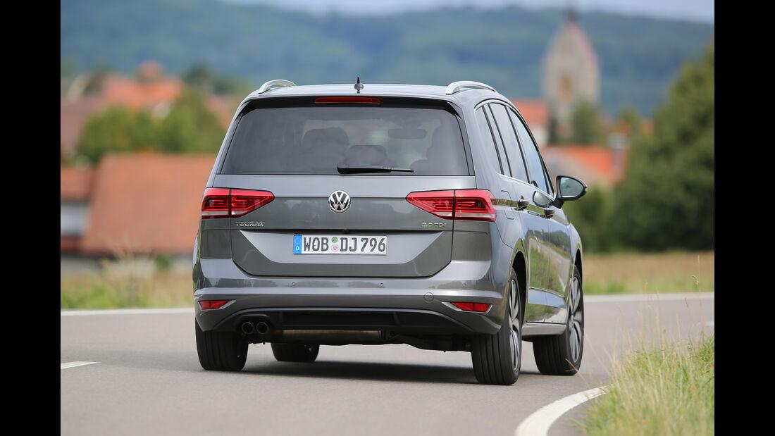 VW Touran 2.0 TDI SCR, Heckansicht