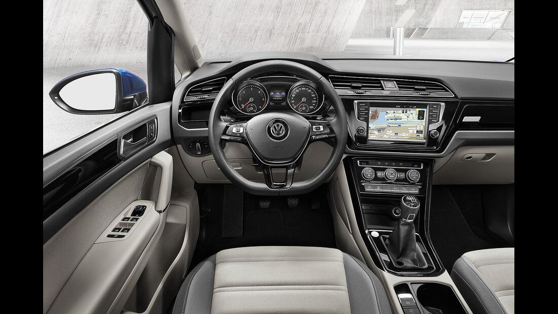 VW Touran 2015, Innenraum, Cockpit, Lenkrad