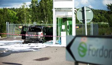 VW Touran Erdgas Tankstelle Explosion Schweden