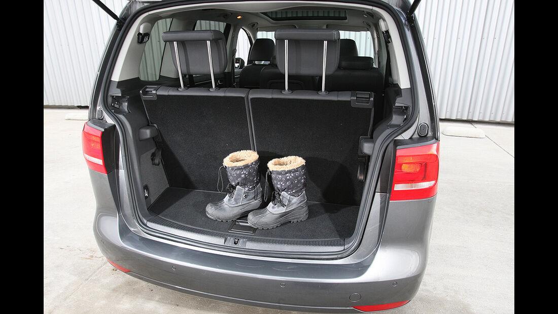 VW Touran, Kofferraum, dritte Sitzreihe