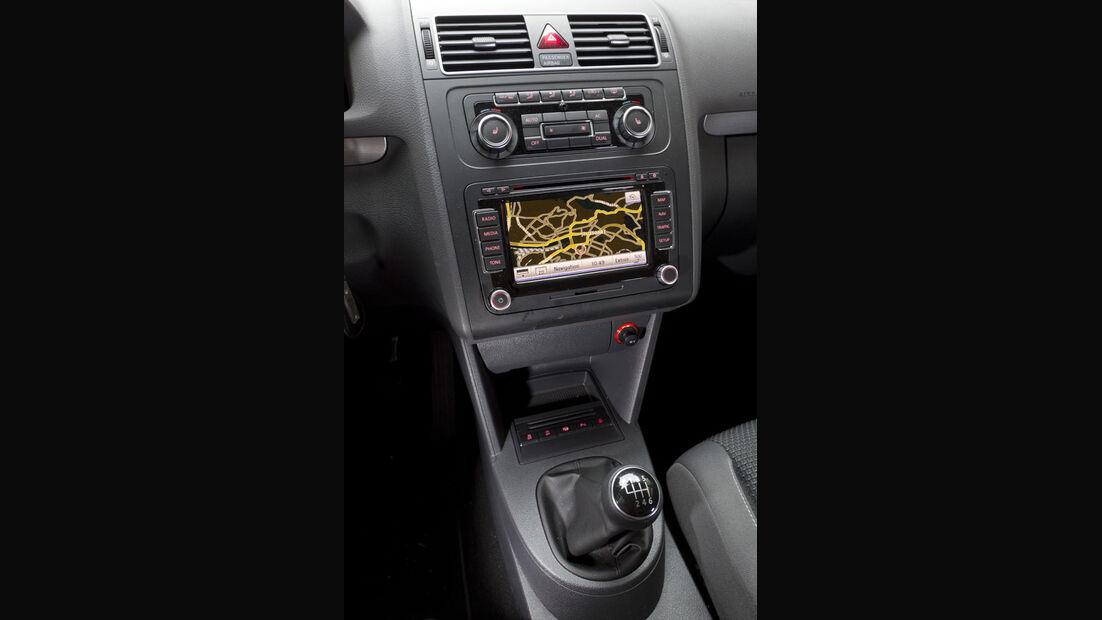VW Touran, Mittelkonsole, Navigationssystem