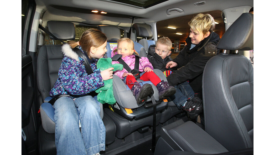 VW Touran, Rückbank, Kinder