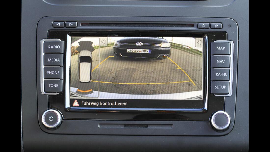 VW Touran, Rückfahrcamera, Einparkhilfe
