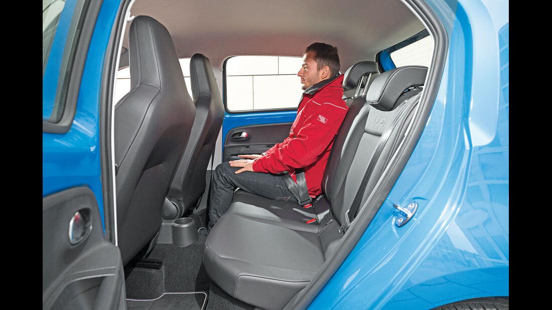 VW Up 1.0, Fondsitz, Beinfreiheit