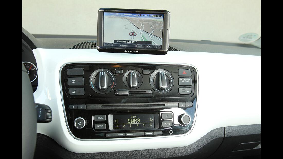 VW Up 1.0, Navi, Bildschirm