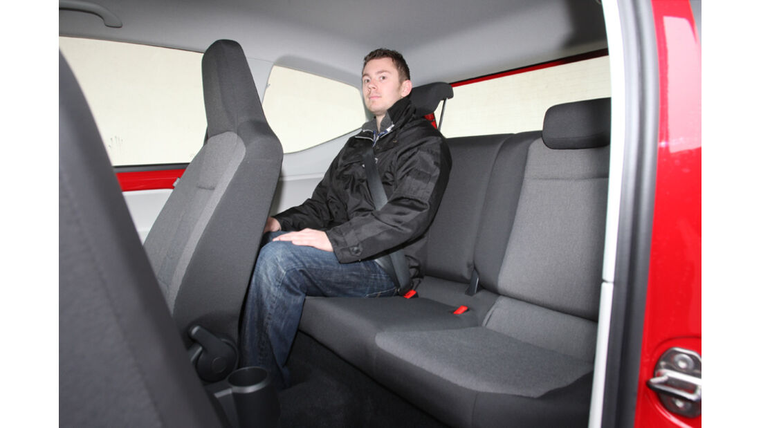 VW Up 1.0, Sitze