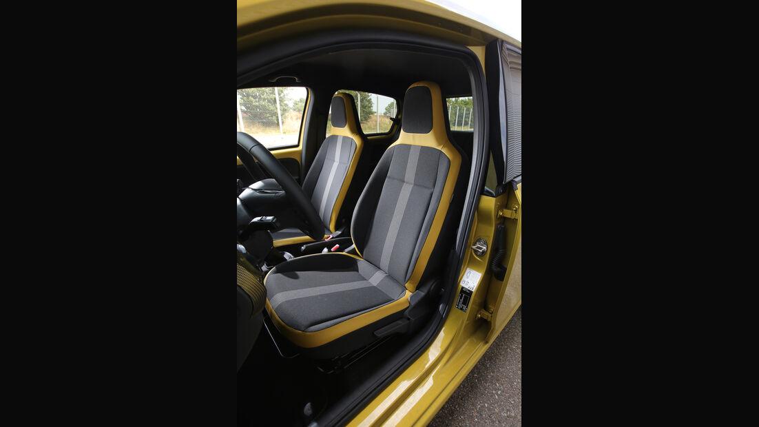 VW Up 1.0 TSI, Fahrersitz