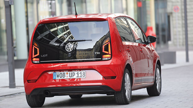 VW Up 1.0 TSI, Heckansicht