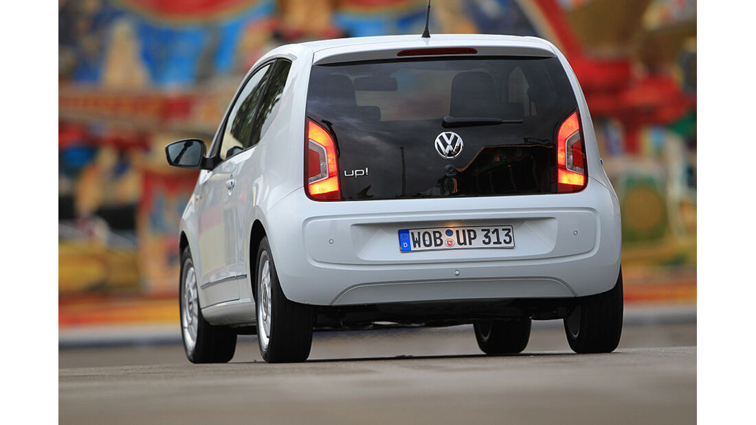 VW Up 1.0 White, Heck