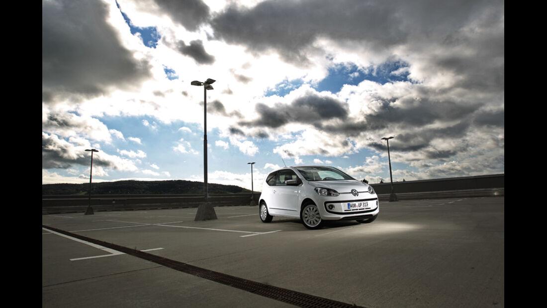 VW Up 1.0 White, Seitenansicht