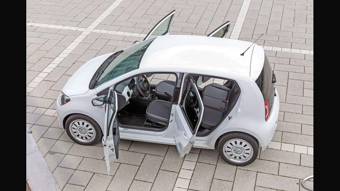 VW Up 1.0 White, Türen offen