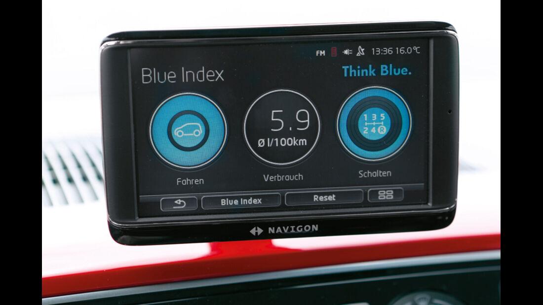 VW Up, Bildschirm