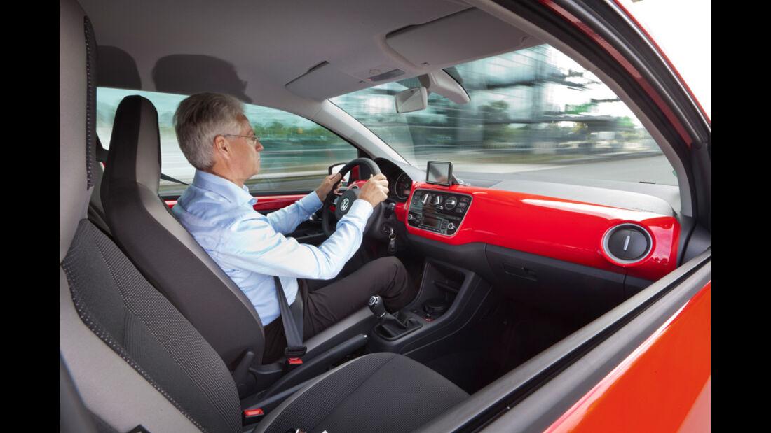 VW Up, Fahrer, Cockpit