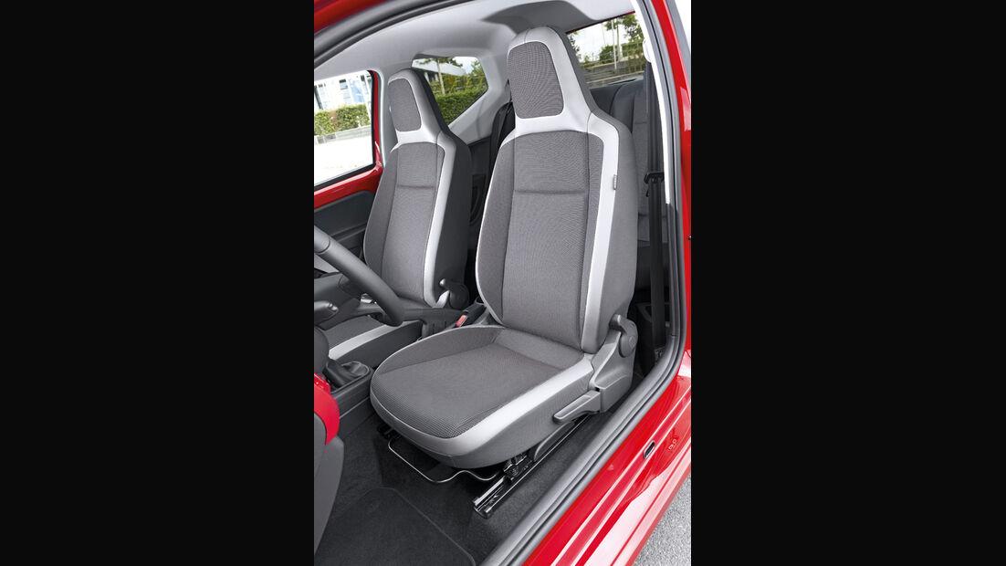 VW Up, Fahrersitz