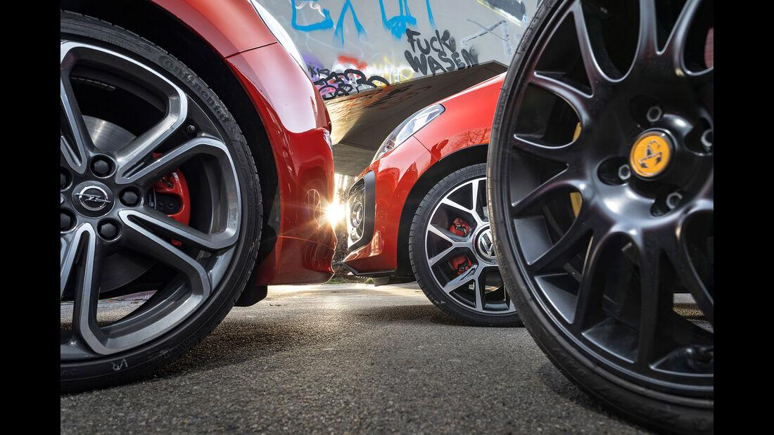 VW Up GTI - Abarth 595 Pista - Opel Adam S - sport auto 6/2018